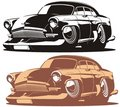 Vector cartoon retro car Royalty Free Stock Images