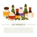 Vector cartoon soy food background