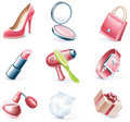 Vector cartoon style icon set. Part 17. Woman`s st Royalty Free Stock Photos