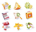 Vector cartoon style icon set. Part 2 Stock Photo