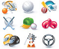 Vector cartoon style icon set. Part 36. Sport Stock Photography