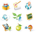 Vector cartoon style icon set. Part 5 Royalty Free Stock Image