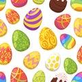 Easter colorful festive eggs
