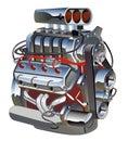 Vector cartoon turbo engine Royalty Free Stock Photo
