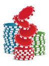 Vector casino chips Stock Images