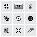 Vector casino icon set on grey background Royalty Free Stock Photography