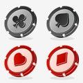 Vector Casino Poker Chips Royalty Free Stock Photo