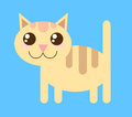 Vector cat style funny cute Stock Image