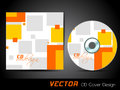 Vector CD cover in orange and yellow color Stock Photography