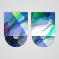 Vector cd cover set for your design abstract illustration Royalty Free Stock Photos