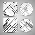 Vector cd cover set for your design circuit board illustration Royalty Free Stock Photos