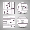 Vector cd cover set for your design circuit board illustration Stock Photos