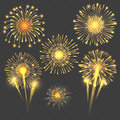 Vector celebratory gold firework salute burst