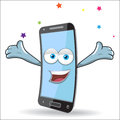 Vector cell mobile mascot design Stock Photos