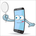 Vector cell mobile mascot design Stock Photography