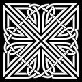 Vector celtic ornament illustration of knot motif Royalty Free Stock Image