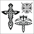 Vector celtic set. Celtic abstract knot pattern
