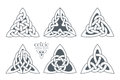 Vector celtic trinity knot part 2. Ethnic ornament.