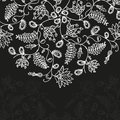 Vector chalkboard floral pattern background for text Stock Photos