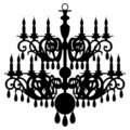 Vector chandelier silhouette Royalty Free Stock Images