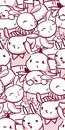 stock image of  Vector character rabbit baby seamless pattern pink