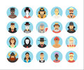 Vector characters and persons icons collection. Royalty Free Stock Photo