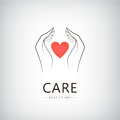 Vector charity, medical, care, help logo, icon