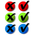 Vector check mark buttons Stock Images