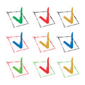 Vector Check signs Stock Image