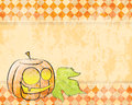 Vector checkered background pumpkin decorating for retro halloween Royalty Free Stock Photos
