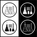 Vector chemical test tubes icons Royalty Free Stock Image
