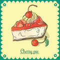 Vector cherry pie.