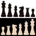 vector chess pieces Royalty Free Stock Photo