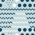 Vector Chevron and Dots Design seamless pattern background