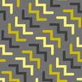 Vector chevron seamless geometric pattern in grey and gold