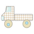 Vector children's green toy truck. Royalty Free Stock Photo