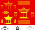 Vector China house Royalty Free Stock Photo