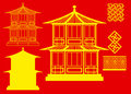 Vector China house 3 Stock Photos