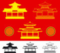 Vector China house (vector) Royalty Free Stock Photos