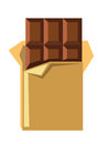 Vector chocolate bar Royalty Free Stock Photo