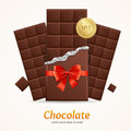 Vector Chocolate Package Bar Blank