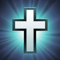 Vector Christian Cross Royalty Free Stock Images