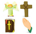 Vector christian symbols Stock Photography