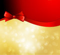 Vector christmas background with bow ribbon and Stock Images