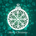 Vector christmas ball toy fishnet snowflake Royalty Free Stock Image