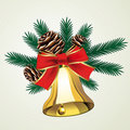 Vector Christmas bell Royalty Free Stock Photography