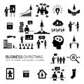 Vector christmas business icons set