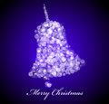 Vector christmas card blue bell shape Stock Photo