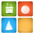 Vector christmas decoration card Royalty Free Stock Photography