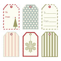 Vector Christmas gift tags. Royalty Free Stock Photo